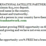 UPDATE: Text Cash Network, Firm With Phil Piccolo Tie, Now Fishing For 'International Satellite Partners' And $25,000 Deposits -- After Earlier Piccolo-Associated Firm Asked For $14,995 At A Time For Offshore 'Resorts' Program