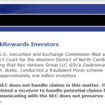SEC Says Zeek Probe 'Is Continuing'; Agency Updates Information Page