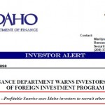 Idaho Says Profitable Sunrise Pitchmen May Have Exposure 'For Soliciting Other Investors'