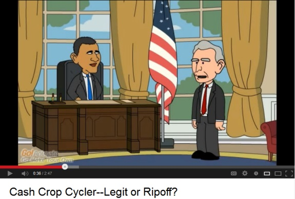 """President Obama"" and ""Vice President"" Biden in a video that appears to be designed to drive sign-ups for Empower Network, an MLM ""program."""
