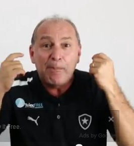 TelexFree executive Carlos Costa is keen on Botafogo. Source: YouTube video.