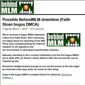 BehindMLM.com Offline